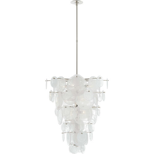 AERIN Loire 12 Light 29 inch Polished Nickel Cascading Chandelier Ceiling Light