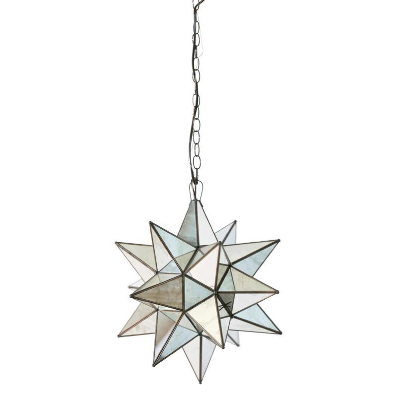 Large Star Chandelier With Antique Mirror