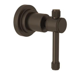 Campo Trim for Volume Control and 4-Port Dedicated Diverter - Tuscan Brass with Industrial Metal Lever Handle