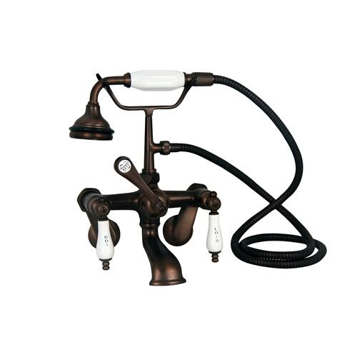 "Fillmore 60"" Acrylic Slipper Tub Kit in Bisque - Oil Rubbed Bronze Accessories"