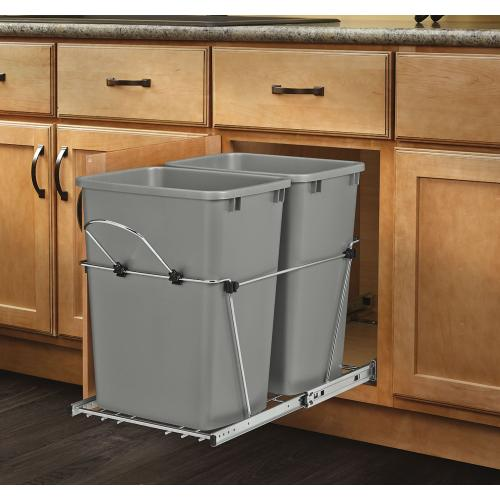 Rev-A-Shelf - RV-18KD-17C S - Double 35 Quart Pullout Waste Containers