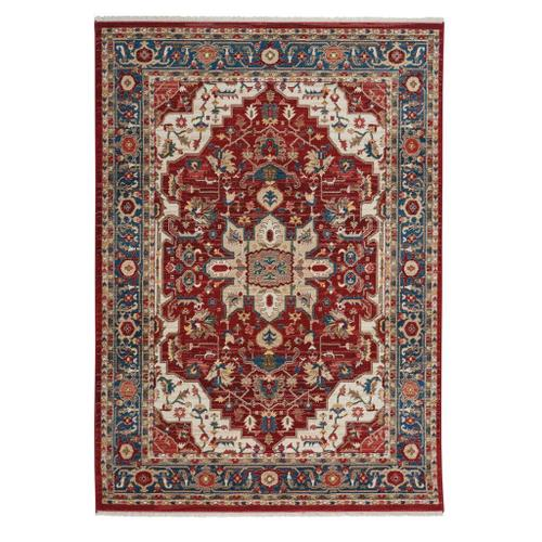 "Alden-Medallion Classic Red - Rectangle - 3'3"" x 4'10"""