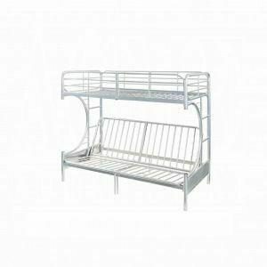 ACME Eclipse Twin/Full/Futon Bunk Bed - 02081SI - Silver