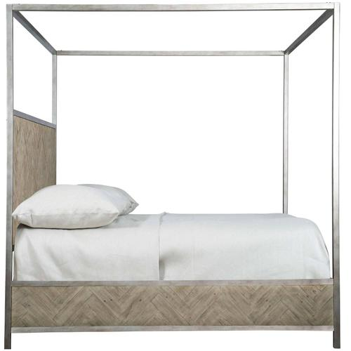 King-Sized Milo Canopy Bed in Morel