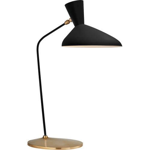 AERIN Austen 26 inch 40 watt Matte Black Table Lamp Portable Light, Large