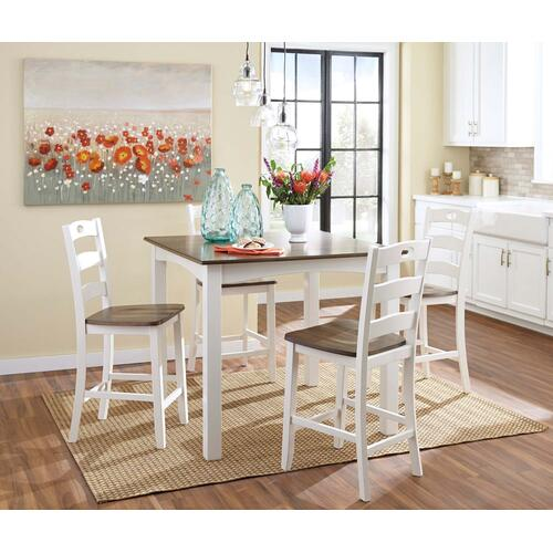 Woodanville Table & 4 Stools
