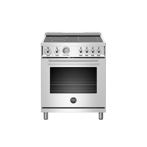Bertazzoni - 30 inch Induction Range, 4 Heating Zones, Electric Oven Stainless Steel
