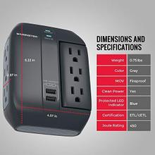 See Details - Monster Swivel Socket Wall Tap Surge Protector - P