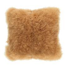 Cashmere Fur Pillow Golden Brown