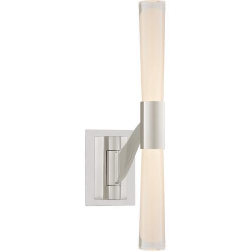 AERIN Brenta 9 inch 12 watt Polished Nickel Single Articulating Sconce Wall Light