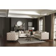 Claxton Traditional Oatmeal Tufted Two-piece Living Room Set Product Image