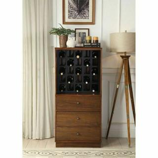 ACME Wiesta Wine Cabinet - 97542 - Walnut