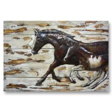 Mare and Foal 32x48 Wood and Metal Wall Art