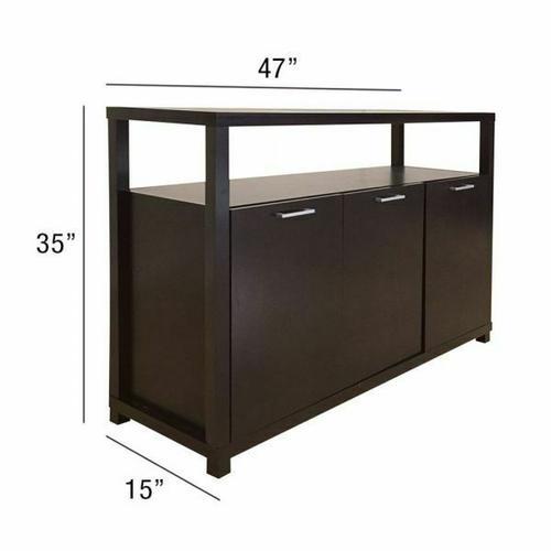 ACME Hill Console Table - 08278 - Espresso