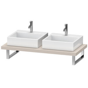 Console For Above-counter Basin And Vanity Basin, Taupe Matte (decor)