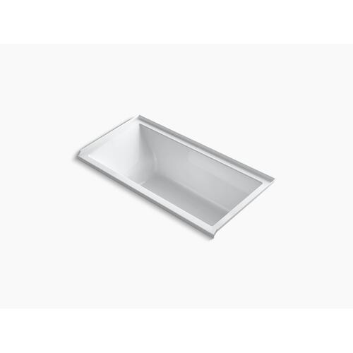 "White 60"" X 30"" Alcove Vibracoustic Bath With Right-hand Drain"