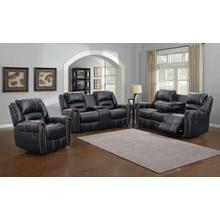 Braxton Black Loveseat with Storage Console
