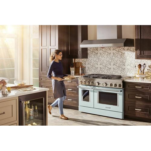 KitchenAid - KitchenAid® 48'' Smart Commercial-Style Dual Fuel Range with Griddle - Misty Blue