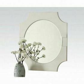ACME Florissa Mirror - 62096 - Antique White