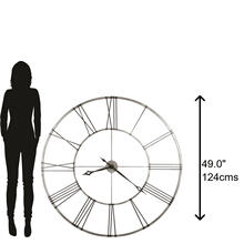 View Product - Howard Miller Stockton Oversized Iron Wall Clock 625472