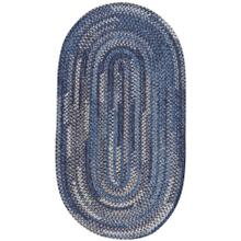 New Homestead Moody Blue Braided Rugs