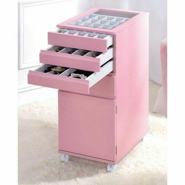 ACME Nariah Jewelry Armoire - 97216 - Pink