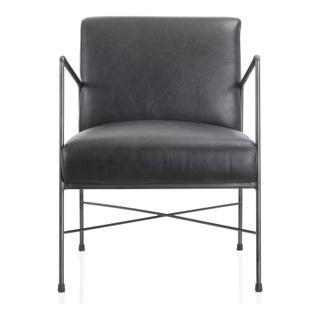 Dagwood Leather Arm Chair Black