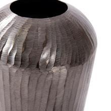 View Product - Carbon Gray Chiseled Aluminum Vase