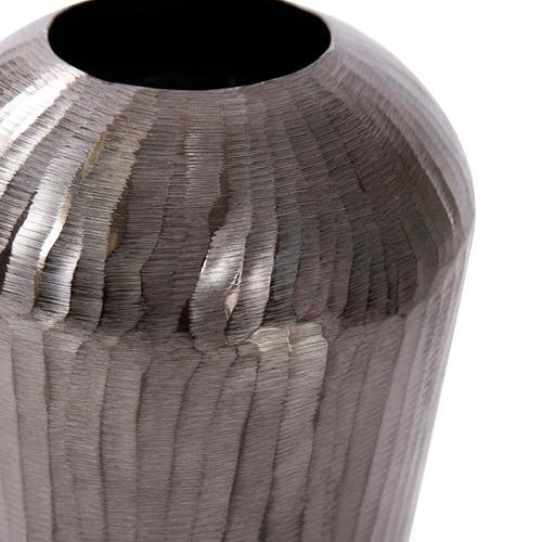 Howard Elliott - Carbon Gray Chiseled Aluminum Vase