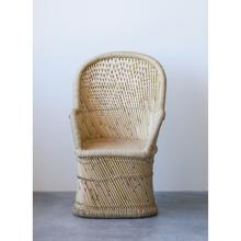 """Product Image - 24-1/2""""L x 19""""W x 41""""H Hand-Woven Bamboo & Rope Chair"""
