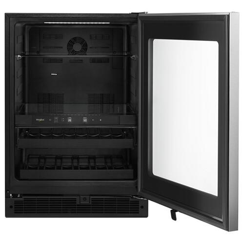 Whirlpool - 24-inch Wide Undercounter Beverage Center with Towel Bar Handle- 5.2 cu. ft.