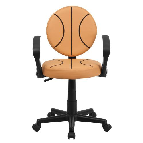 Basketball Swivel Task Chair with Arms