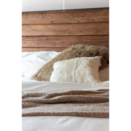 Moe's Home Collection - Goat Fur Pillow Natural