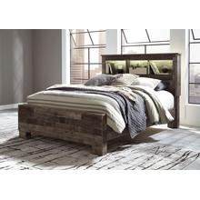 Derekson Queen Bed W/Bookcase Headboard Multi Gray