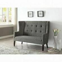 ACME Paloma Settee - 57257 - Gray Fabric & Espresso