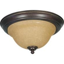 Castillo - 2 Light Flush Mount with Champagne Linen Washed Glass - Sonoma Bronze Finish