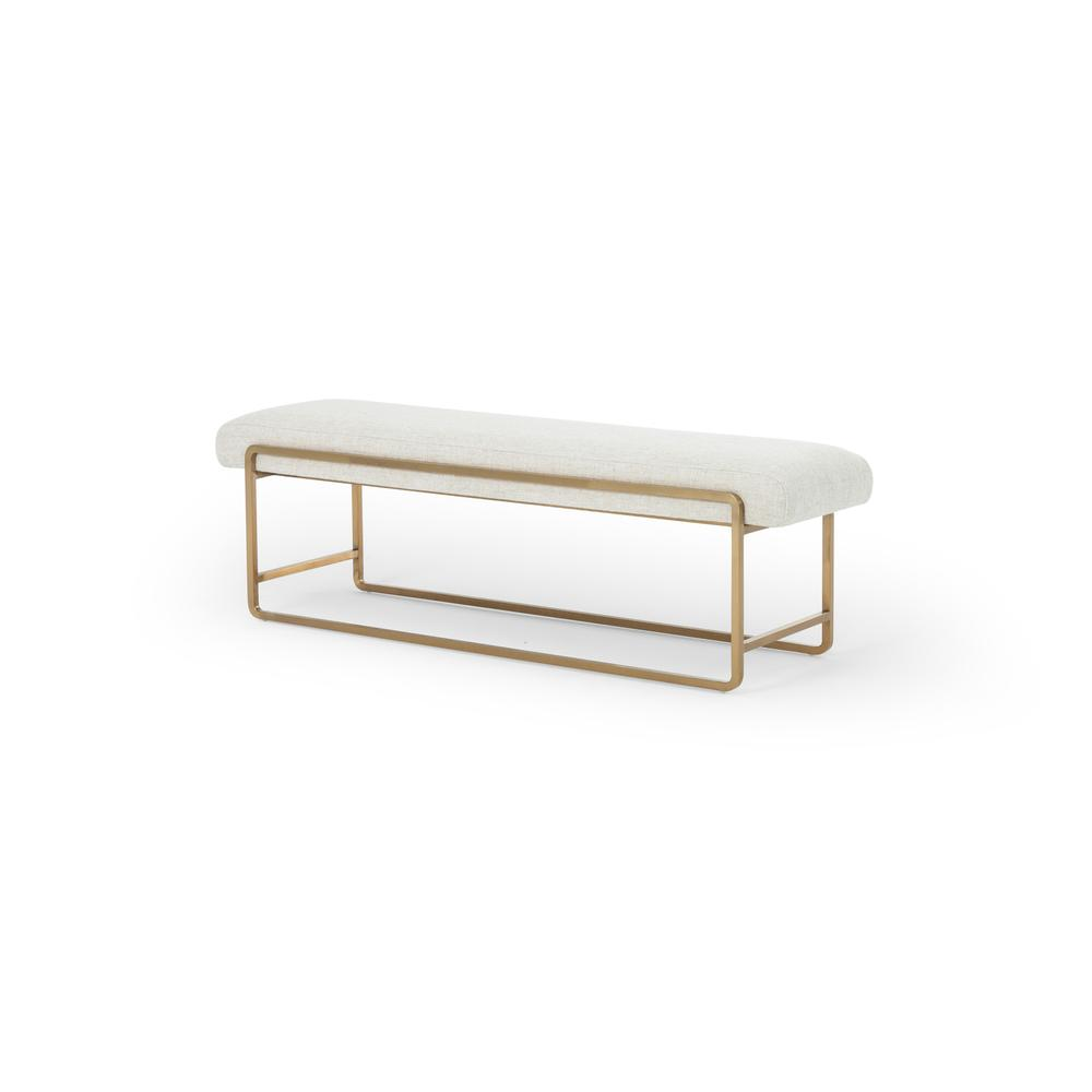 Thames Cream Cover Sled Bench