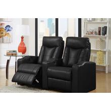 View Product - Camden Black Bonded Leather 2-Piece Reclining Theater Set