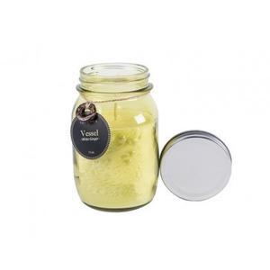 Green Mason Jar Candle - Rosemary & White Ginger