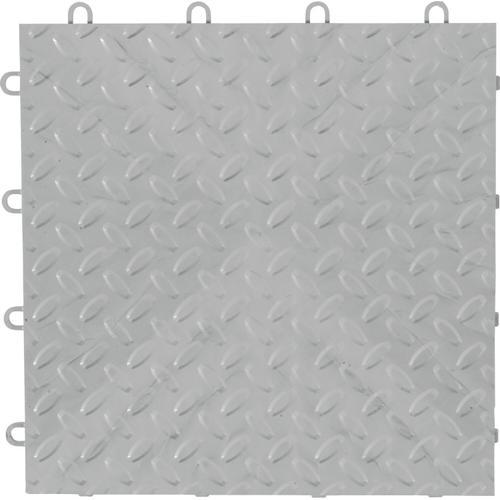 "Gladiator - 12"" x 12"" Tile Flooring (48-Pack) Silver"