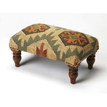 This Southwestern-inspired stool will stylishly enhance your space. Featuring a Mountain Lodge design aesthetic, it is hand crafted from select wood solids, 20% wool, 80% jute.