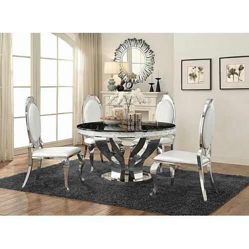 Product Image - Anchorage Hollywood Glam Silver Dining Table