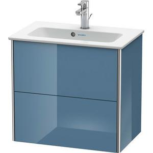 Vanity Unit Wall-mounted Compact, Stone Blue High Gloss (lacquer)