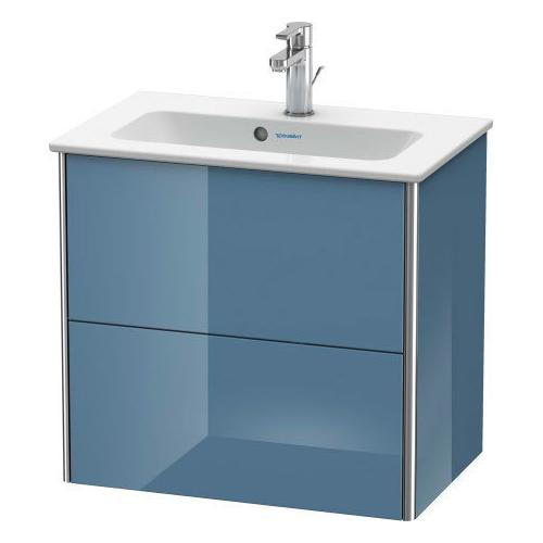 Duravit - Vanity Unit Wall-mounted Compact, Stone Blue High Gloss (lacquer)