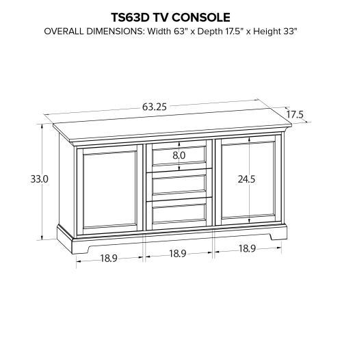 TS63D Custom TV Console