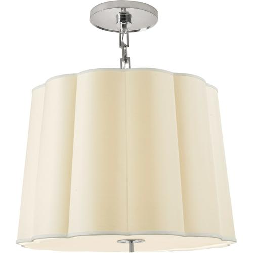 Visual Comfort - Barbara Barry Simple 5 Light 25 inch Soft Silver Hanging Shade Ceiling Light