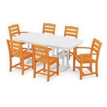 View Product - La Casa Cafu00e9 7-Piece Dining Set in Tangerine