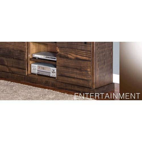 """Sunny Designs - 65"""" TV Console w/ Barn Door"""
