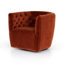 See Details - Hanover Swivel Chair-sapphire Rust