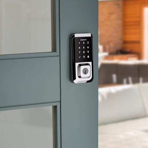 Kwikset - Halo Touchscreen Wi-Fi Enabled Smart Lock - Polished Chrome